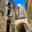 Medieval street in Southern France — Stock Photo