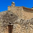 Stone huts in the Village des Bories near Gordes, Southern Franc - Stock Photo