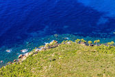 Aerial view of Beautiful Scenic Coastline near Cassis in Souther — Stock Photo
