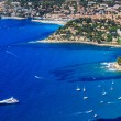 Aerial view on Cassis and Calanque Coast, Southern France — Stok fotoğraf