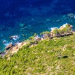 Aerial view of Beautiful Scenic Coastline near Cassis in Souther - Stock Photo
