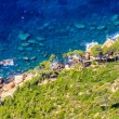 Stock Photo: Aerial view of Beautiful Scenic Coastline near Cassis in Souther