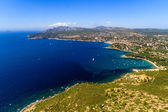 Aerial view on Cassis and Calanque Coast, Southern France — Stock Photo