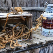 Vintage sailing boat equipment — Stock Photo