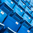 Royalty-Free Stock Photo: Blue folded seats in a stadium