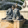 Lion Statues of Water Fountain - Stock Photo