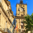 Clock Tower, Aix en Provence, France - Stock Photo