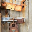 Stock Photo: Rusty ancient door lock