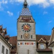 Zytturm. Tower of Zyt in the Swiss City of Zug - Stock Photo