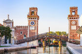 Venice, Arsenale historic shipyard — Foto de Stock