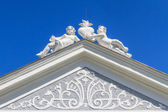 Top of Baroque Portal at Herzogenburg Monastery Park, Austria — Stock fotografie