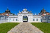 Portal barroco no parque do mosteiro de herzogenburg, áustria — Foto Stock