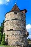 Torre da cidade de zug fortificações — Foto Stock