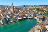 Zurich Cityscape (aerial view) — Stock Photo