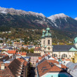 Innsbruck, view over city, Tyrol — Stock Photo