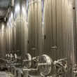 modern winery steel tanks — Stock Photo