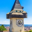 Stock Photo: Famous Clock Tower (Uhrturm) in Graz, Styria, Austria