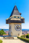 Famous Clock Tower (Uhrturm) in Graz, Styria, Austria — Stock Photo