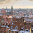 Nurember City View during winter time — Stock Photo