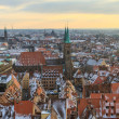Nurember City View during winter time - Stock Photo