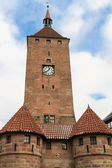 Nuremberg, Medieval White Tower Gate, Bavaria, Germany — Стоковое фото