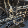 details of old steam locomotive - engine in railway museum — Stock Photo