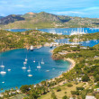 Antigua Bay Aerial View, Falmouth Bay, English Harbour, Antigua — Stock Photo #22797046