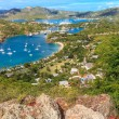 Stock Photo: AntiguBay Aerial View, Falmouth Bay, English Harbour, Antigua