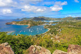 Antigua Bay Aerial View, Falmouth Bay, English Harbour, Antigua — Stock Photo
