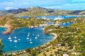 Antigua defne havadan görünümü, falmouth defne, i̇ngiliz limanı, antigua — Stok fotoğraf