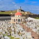 Old San Juan, El Morro fort and Santa Maria Magdalena cemetery, — Stock Photo #22801200