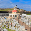 Old San Juan, El Morro fort and Santa Maria Magdalena cemetery, - Stock Photo