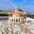 Royalty-Free Stock Photo: Old San Juan, El Morro fort and Santa Maria Magdalena cemetery,