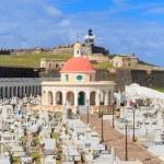 Old San Juan, El Morro fort and Santa Maria Magdalena cemetery, — Stock Photo #22801832