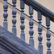 Wooden Railing of an antique staircase — Stock Photo