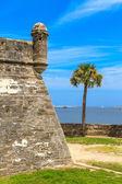 Fort st. augustine, pomnik narodowy castillo de san marcos — Zdjęcie stockowe