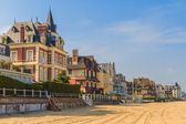 Trouville sur Mer beach promenade, Normandy, France — Stock Photo