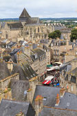 Dinan old town panoramic view, Brittany, France — Stock Photo