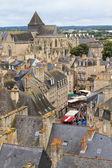 Dinan starego miasta panoramiczny widok, brittany, francja — Zdjęcie stockowe