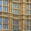Stock Photo: Houses of Parliament facade details (background), London, UK