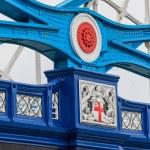 Tower Bridge details of iron cross beams, London, UK — Stock Photo #24785053