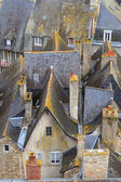 Dinan old town roof tops, Brittany, France — Stock Photo