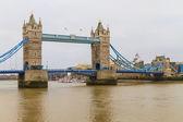 Tower Bridge view on rainy day, London, UK — Stock Photo