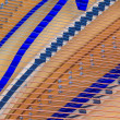 Stock Photo: Interior of grand piano showing strings and structure (close up)