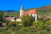 Spitz Village Church in famouse Wachau Valley, Austria — Stock Photo