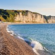 Normandy Coast with white cliffs, near Fecamp, France — Stock Photo