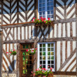 Beuvron-en-Auge, typical house facade, Normandy — Stock Photo