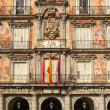 Madrid, Plaza Mayor, Facade of Casa de la Panaderia, Spain — Stock Photo
