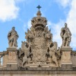 Madrid Royal Palace, Coat of arms on top of palace, Spain  — Stock Photo
