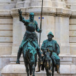 Madrid, Don Quijote and Sancho Panza Statue, Spain — Stock Photo #28545759